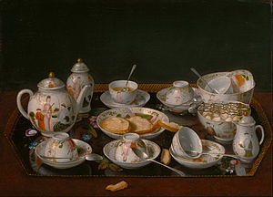 Tea set - Still Life: Tea Set, ca. 1781–83, painting by Jean-Étienne Liotard
