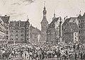 Litho - München - Marktplatz - Quaglio - 1812.jpg
