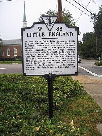 William Capps - Capps Point Historical Marker, Hampton, Virginia