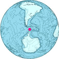 Location of the South Shetlands