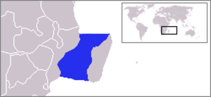 Mozambique Channel - Location of Mozambique Channel
