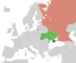Localização da Crimeia