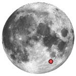 Location of lunar crater piccolomini