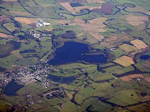 Lochmaben Castle - Lochmaben - aerial view