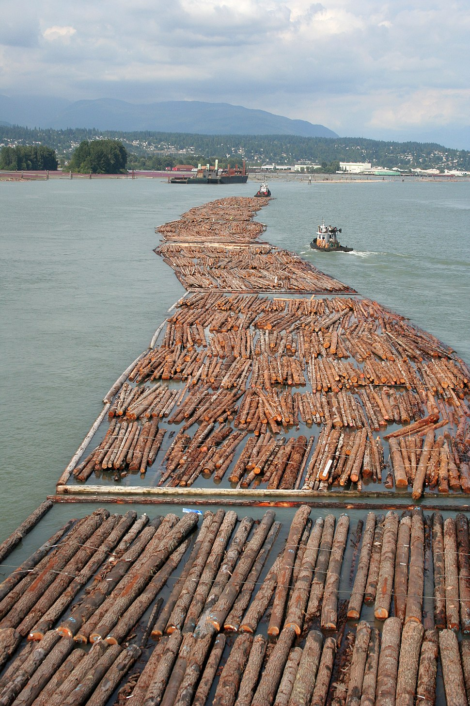 Log driving in Vancouver