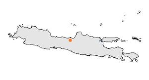 Lokasi Kota Semarang di pulau Jawa.