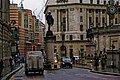 London - Cornhill - Statue of James Henry Greathead 1994 - Statue of the Duke of Wellington 1844.jpg