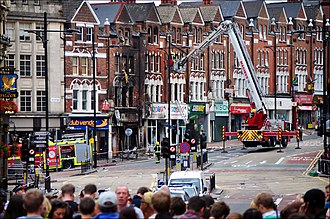 Clapham Junction - Cleanup on Lavender Hill following the 2011 riots