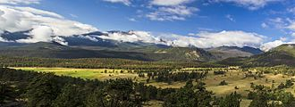 Upper Beaver Meadows - Longs Peak and Upper Beaver Meadows, in the foreground. Courtesy of Rocky Mountain National Park