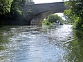 Looking back upstream under the oldest of the Wansford bridges - August 2013 - panoramio.jpg