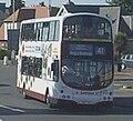 Lothian Buses bus Volvo Wrightbus Eclipse Gemini Harlequin livery September 2010 route 41.jpg