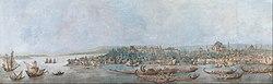 Louis-François Cassas: Panorama of Sarayburnu