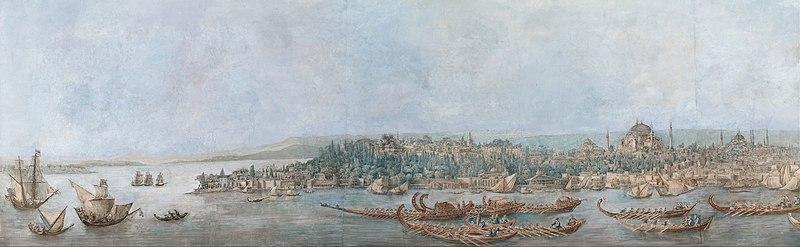 File:Louis-François Cassas - Panorama of Sarayburnu - Google Art Project.jpg