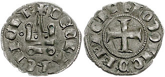 Louis of Burgundy - Coin of Achaea under Louis