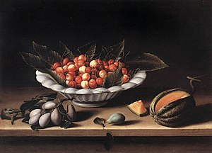 Cup of Cherries and Melon, 1633