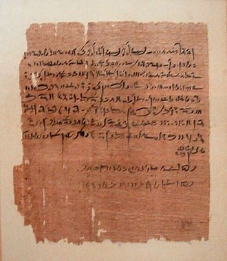 Metayage - Contract for metayage, papyrus, 35th year of Amasis II (533 BC, 26th Dynasty)