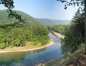 Loyalsock Creek from Pennsylvania Route 87, be...