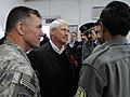 Lt. Gen. Caldwell and U.S. Senator Roger F. Wicker talk with Afghan police officers during a tour (4278920834).jpg