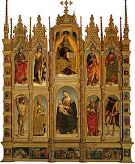 Polyptych of saints