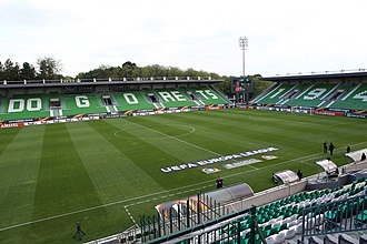 PFC Ludogorets Razgrad - Ludogorets Arena, the club's home ground, before a UEFA Europa League game in June 2018.