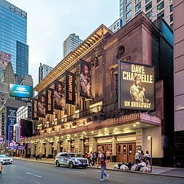 Lunt-Fontanne Theatre - Dave Chappelle (48296060697).jpg