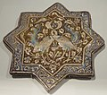 Lusterware star tile with entwined cranes, Iran (Kashan), Ilkhanid, 13th-14th century.JPG