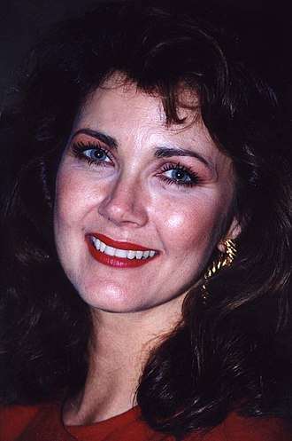 Lynda Carter - Carter at Larry King's birthday party in 1993