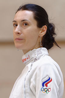 Lyubov Shutova Russian fencer