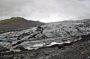Mýrdalsjökull - Image: Mýrdalsjökull glacier, Iceland