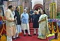 M. Hamid Ansari, the Prime Minister, Shri Narendra Modi, the Speaker, Lok Sabha, Smt. Sumitra Mahajan, the Union Minister for Finance, Corporate Affairs and Defence.jpg