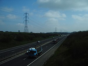 M65 motorway - Looking east along the newest section