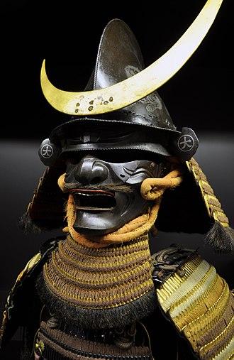 Military history of Japan - Helmet and half-face mask (menpo), Japan.
