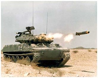 M551 Sheridan - MGM-51 Shillelagh fired from a Sheridan