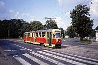 MZK Torun Tramwaj - Konstal 102Na tram nr 209 in Toruń Aug 1990 (3386087642).jpg