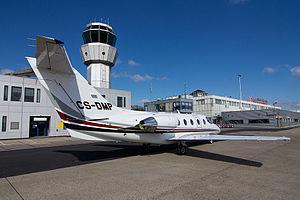 Maastricht Aachen Airport ATC tower and passenger terminal.jpg