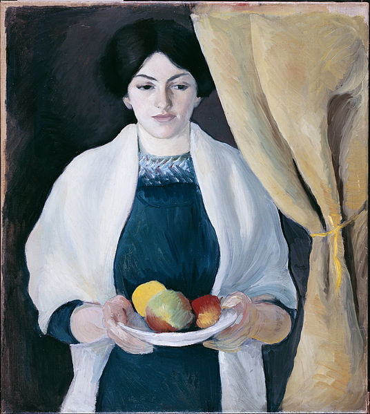 File:Macke, August - Portrait with Apples - Google Art Project.jpg