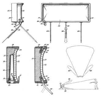 M18 Claymore mine - Images from the 1956 Macleod patent.