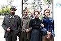 Madame Nobel - film set Vienna May 2014 Birgit Minichmayr Yohanna Schwertfeger Sebastian Koch Philipp Hochmair Urs Egger.jpg