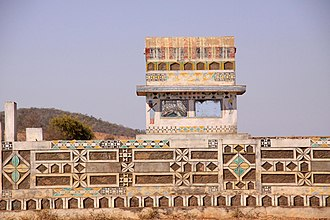 Culture of Madagascar - Mahafaly tomb with traditional painted decoration
