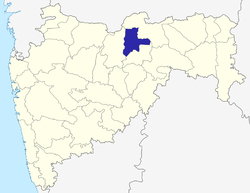 Location of Akola district in Maharashtra