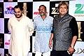 Mahesh Manjrekar with Nana Patekar and Malhar Patekar at zee cine awards 2016.jpg