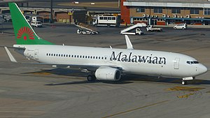 Malawian Airlines - The Malawian Airlines Boeing 737-800 in September 2014