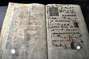 "Rorate Coeli - Medieval manuscript of the Gregorian chant ""Rorate coeli"""