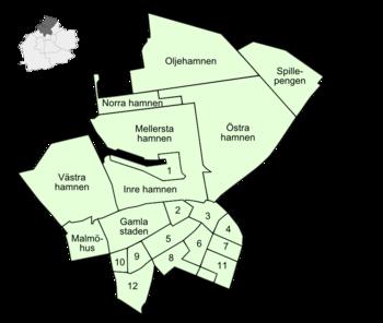 Malmö Centrum - Wikipedia's Malmö Centrum as translated by GramTrans