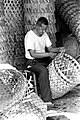 Man making basket from rattan in Tamsui ca. 1970.jpg