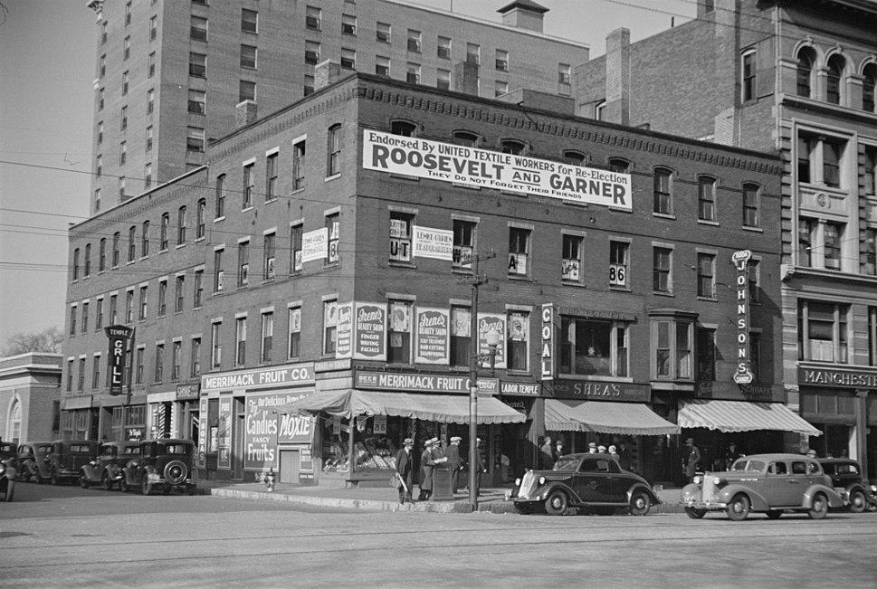 Manchester Elm Street 1936 LOC fsa 8a02859