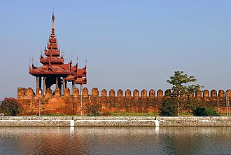 Mandalay - A bastion at Mandalay Palace