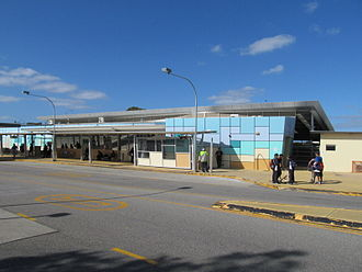 Mandurah railway station - Station entrance in September 2012