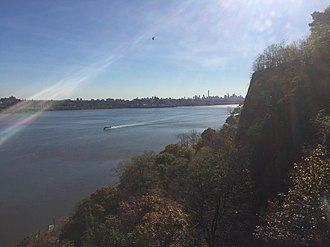Fort Lee Historic Park - Image: Manhattan from Fort Lee Historic Park