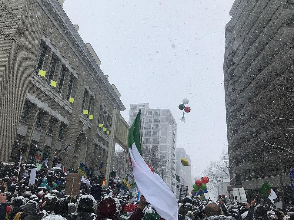 Manifestation d'Algériens à Montréal 2019